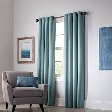 Blackout Lining For Curtains Shop Allen Roth Withern 63 In Mineral Polyester Grommet Blackout