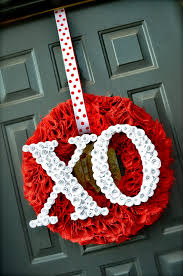 Easter Basket Door Decorations by 25 Diy Valentine U0027s Day Wreaths Homemade Door Decorations For