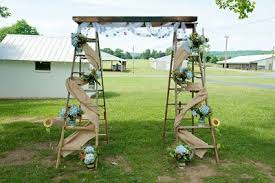 wedding arch ladder flowers for our wedding arch a mock up weddings do it