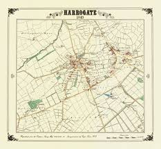 map uk harrogate cartography town and maps
