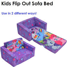 Kids Flip Out Sofa Bed With Sleeping Bag Sofa Beds For Children Ebay
