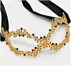 gold masquerade mask lyla flower cluster gold masquerade mask gold