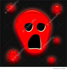 halloween red background halloween spooky face illustration