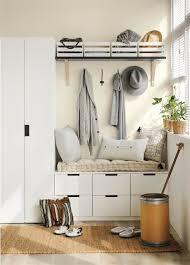 cleaning closet ideas recibidor con banco descalzador ganchos y colgadores para ideas