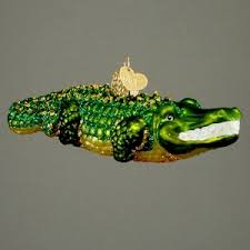 alligator ornament at the lake