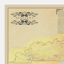 Scotch Whisky Map Kentucky Bourbon Trail Distillers Map
