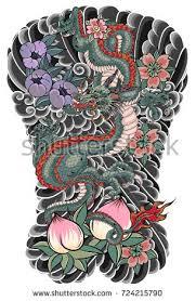 tattoo dragon full back japanese tattoo design full back body stock photo photo vector