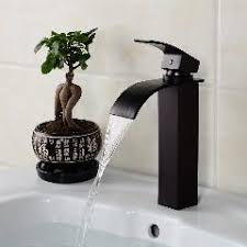 Oil Rubbed Bronze Faucet Bathroom Oil Rubbed Bronze Faucet Bathroom Black Sink Tap Square Waterfall