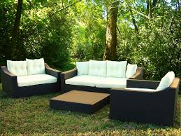 woven patio furniture furniture ideas rattan patio furniture sets with wooden deck