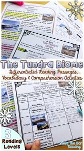 biomes the tundra reading passages 3 levels vocabulary