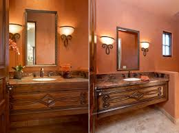 Unique Powder Room Vanities Cheerful Spunk Enliven Your Powder Room With A Splash Of Orange