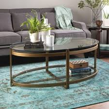 Pictures Of Coffee Tables In Living Rooms Oval Coffee Console Sofa End Tables For Less Overstock