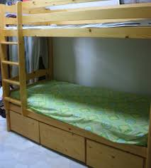 used pinewood double decker bed frame for sale in singapore click