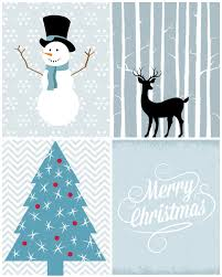 christmas printables in blue free christmas printables post