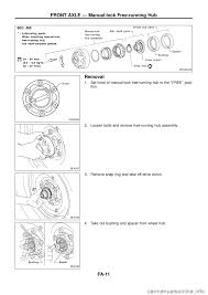 nissan patrol 1998 y61 5 g front suspension workshop manual