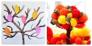 fall arts and crafts for adults projects all about trees