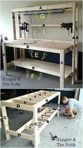 Woodworking Bench Height by Garage Workbench Dimensions Garage Work Bench Height Garage