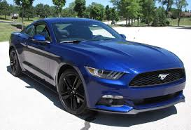 the with the blue mustang 2015 ford mustang i4 premium savage on wheels