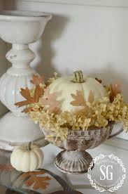 5 easy tips to style a hutch stonegable hutch living room styled pumpkin stonegableblog com