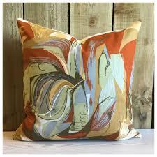 vintage 50s barbara brown heals sweet corn fabric cushion cover