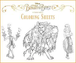disney u0027s beauty beast coloring sheets beourguest