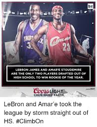 coors light cold hard facts br 23 lebron james and amar e stoudemire are the only two players