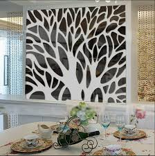 2015 new 3d large tree mirror wall stickers mirror stickers