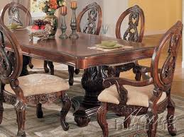 versailles dining room versailles cherry finish 7 piece pedestal dining table set by acme