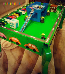 Build A Toy Box Car by Diy Toy Car Garage Table That Cost Almost Nothing To Make