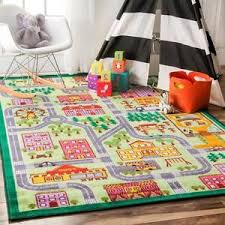 Kid Play Rugs Play Rug City Map Road Playroom Mat Track Daycare Kid