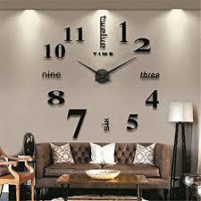 wohnzimmer wanduhren diy 3d wanduhren modern design acryl wanduhren wandtattoo