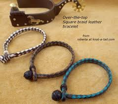 leather bracelet knots images Leather bracelet easy on sliding knot soft leather western JPG