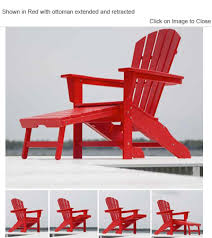 plastic adirondack chairs with ottoman polywoodfurniture com polywood hna15 south beach ultimate