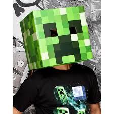 party city halloween costumes minecraft buy minecraft creeper head mask