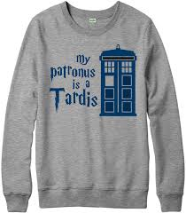 my patronus is a tardis jumper dr who harry potter wizard gift