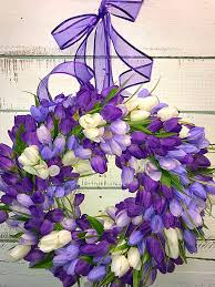 spring wreaths for front door spring wreath spring tulip wreath purple tulip wreath summer