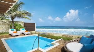 luxury beach front cottages sheraton maldives resort