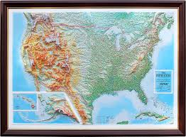 us relief map raised relief map of the united states