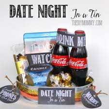 date gift basket ideas a gift in a tin date in a tin the diy