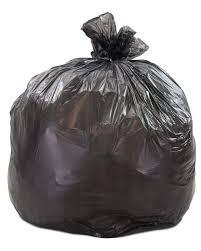 33 gallon black regular duty trash bags 0 5 mil 250 cs