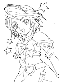pretty coloring pages anime coloringstar