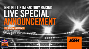 ama motocross live stream red bull ktm special announcement transworld motocross