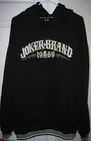 joker brand 1969 hoodie heavy weight sweatshirt 3xl black xxxl 100