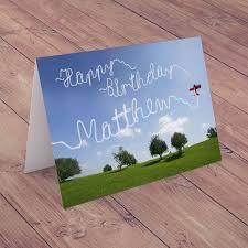 personalised card happy birthday plane gettingpersonal co uk