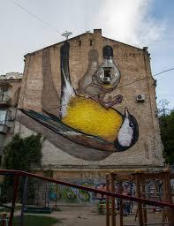 3d mural mural freedom in kiev ukraine 3d street painting by alex maksiov