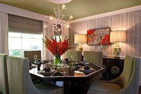 modern dining table centerpieces modern dining room with table ls placed in the sideboard and