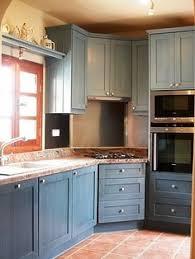 Blue Painted Kitchen Cabinets Blue Kitchen Design Blue Kitchen Designs Blue Kitchen Paint