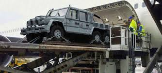mercedes g class 6x6 behold the fearsomeness of an armored 6x6 g wagen coming out of a jet