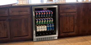 Glass Door Beverage Refrigerator For Home by Kitchen Stylish Wine Beverage Keg Coolers Appliances The Home