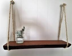Reclaimed Wood Shelves by Rustic Wooden Shelf Hanging Shelf Natural Wood Shelf Mahogany